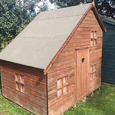 shed felting summer house roofing and re felting by the. Black Bedroom Furniture Sets. Home Design Ideas