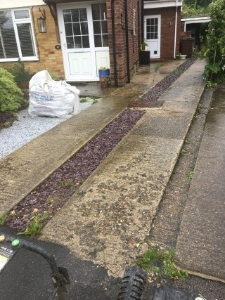 Concrete Driveway Aylesbury Before Pressure Washing