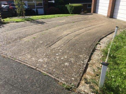 Concrete Driveway Hemel Before Pressure Washing