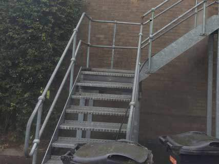 Fire Escape Staircase Pressure Washing