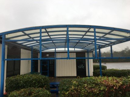 School Canopy After Canopy Cleaning
