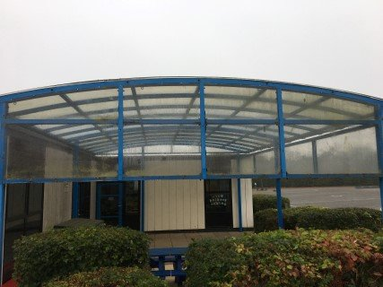School Canopy Before Canopy Cleaning