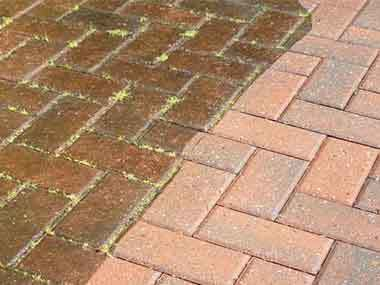 Block Paving Pressure Washing Before And After