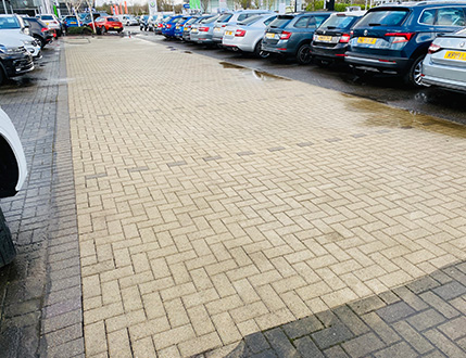 Car Dealership After Cleaning