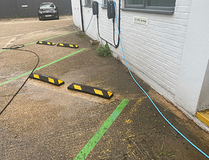 Car Dealership Customer Parking Before Cleaning