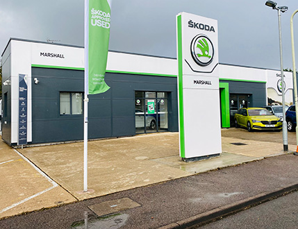 Car Dealership Forecourt After Cleaning