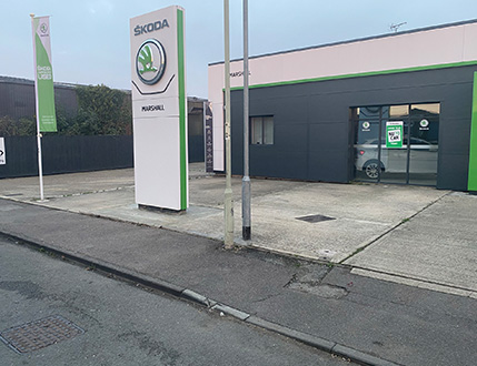 Car Dealership Forecourt Before Cleaning